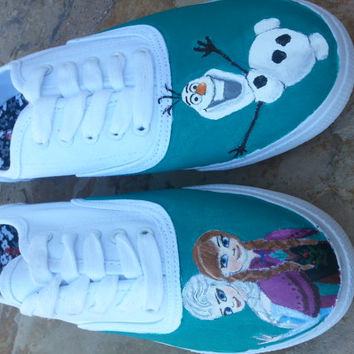 Hand Painted Disney Inspired Frozen Shoes