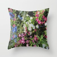 Spring Cheer Throw Pillow by Gwendalyn Abrams