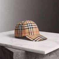 BURBERRY Laminated vintage-check cap