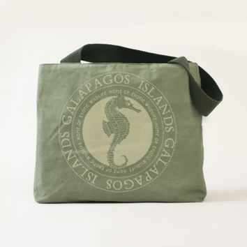 Beautiful Seahorse Galapagos Islands Tote