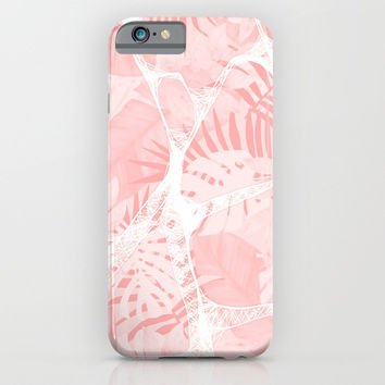 Abstract Soft Pink Tropical Design iPhone & iPod Case by oursunnycdays