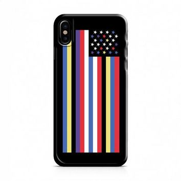 GIVENCHY AMERICAN FLAG iPhone X Case
