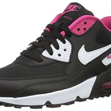 Nike Youths Air Max 90 Mesh Leather Trainers  womens shoes nike air max
