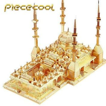 "PieceCool 2016 New Released 3D Metal Puzzle of ""The Heart of Chechnya Mosque"" 3D DIY Russia Famous Architectural Model Kits Toys"