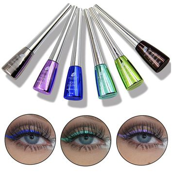 Professional Waterproof 10 Colors Blue Green Liquid Eyeliner Maquiagem Easy To Wear Quick-dry Eyeliner Pencil Eyes Beauty Makeup