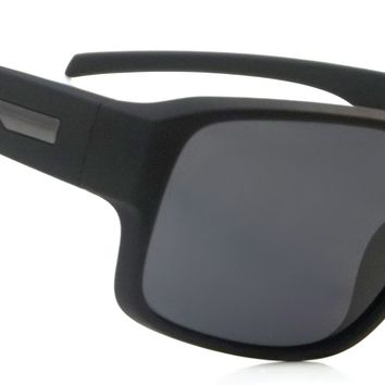 Retro Polarized Sunglasses Classic Rickman Aviator Black Frame