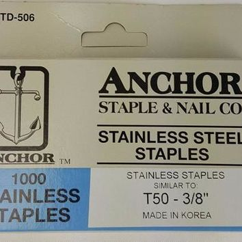 "Stainless Steel Staples, 3/8"" (1000)"