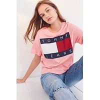 Tommy Jeans Women Tee Shirt T-Shirt Top Blouse