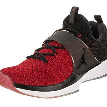 Jordan Nike Men's Trainer 2 Flyknit Gym Red/Black Black Training Shoe 8 Men US