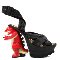 Irregular Choice Dino Black Platform Heeled Sandals
