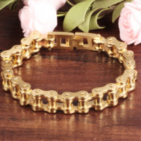 New Arrival Awesome Gift Great Deal Hot Sale Shiny Stylish Titanium Men Strong Character Chain Bracelet [10422078339]
