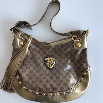 Authentic GUCCI Hysteria Crystal Hobo