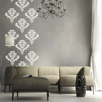 Damask pack of 10 vinyl wall decals