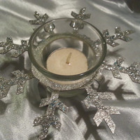Snowflake Candle - Tealight Holders - Christmas Decor - Holiday Decor - Snowflake - Winter Wonderland