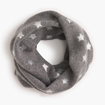crewcuts Girls Silver Foil Star Infinity Scarf