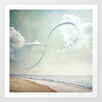 Just Be Art Print by NisseDesigns