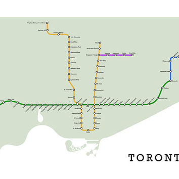 Toronto Subway Map Print.Shop Subway Map Print On Wanelo