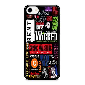 Famous Broadway Musical Plays Collage Iphone 8 Case