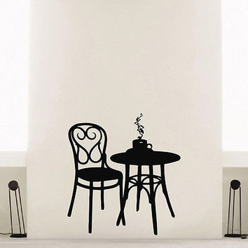 WALL DECAL VINYL STICKER COFFEE TEA CAFE RESTAURANT DECOR SB963