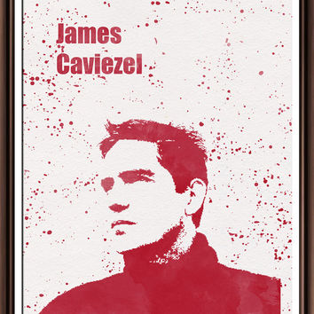 James Caviezel . Person of Interest.  illustrations Art Print  Print Archival Fine Art  Decor Art Home Decor Wall Hanging