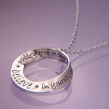 Believe In Yourself Mobius Sterling Silver