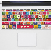 Love  ----Macbook Keyboard Decal Macbook Sticker Mac Decal  Apple Vinyl Decal for Macbook Pro / Macbook Air / iPad