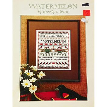 Watermelon Sampler - Counted Cross Stitch Leaflet