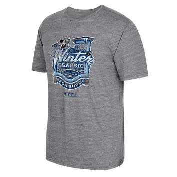 2016 NHL Winter Classic Event Logo Tri-Blend T-Shirt (Dark Gray Heathered)