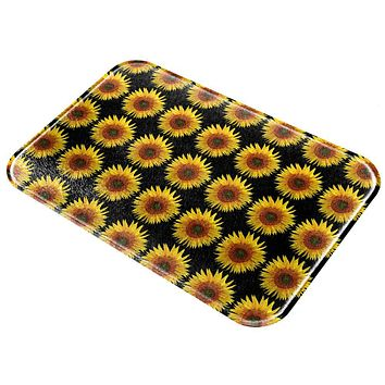 Sunflower Pattern All Over Glass Cutting Board