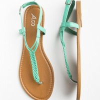 turquoise braided sandals