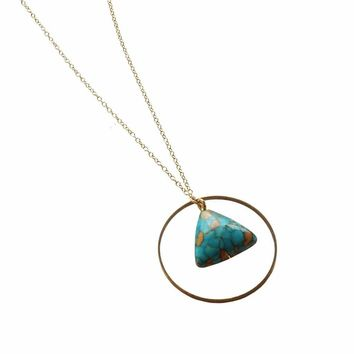 Triangle Geometric Circle Necklace
