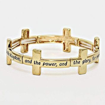 """The Lord's Prayer"" Cross Stretch Bracelet"
