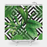 Palms Over Diamonds Shower Curtain