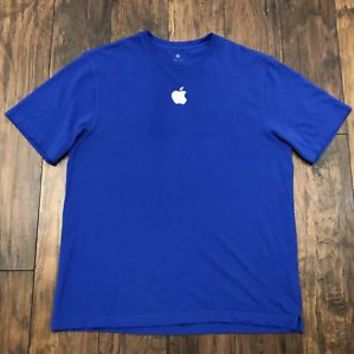 Apple Computers Embroidered Logo Store Embroidered Tech Work Tee Shirt Mens XL