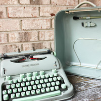working HERMES 3000 portable manual typewriter 1960s SALE