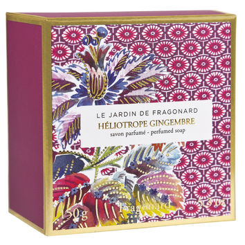 Fragonard, JARDIN DE FRAGONARD, Héliotrope & Gingembre Sculpted Soap, 150 g (5.29 oz)