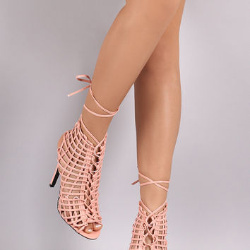 Privileged Webbed Laces Mule Heel