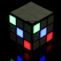 Black P1 Cube Bluetooth Speaker Portable LED RGB Light Wireless Speakers