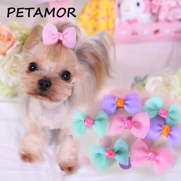 PETAMOR 1PC Pet Grooming Dog Tie Dog Clip Hair Accessories Bows Dogs Christmas Puppy Hair Ties Hairpin For Dogs Pet Supplies
