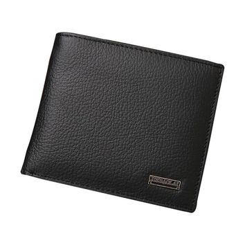 New Men Leather Credit ID Card Holder Wallet