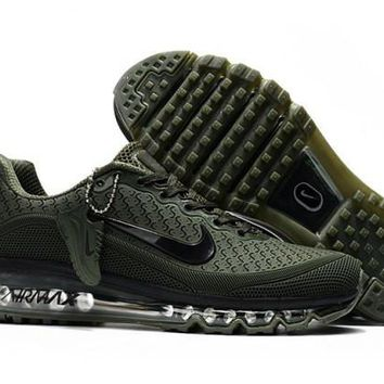 Latest Style Nike Air Max 2017. 5 KPU Army Green Sneakers Men's Running Shoes