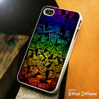 Vans iPhone 4 5 5c 6 Plus Case, Samsung Galaxy S3 S4 S5 Note 3 4 Case, iPod 4 5 Case, HtC One M7 M8 and Nexus Case