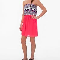 Women's Neon Tube Top Dress in Pink by Daytrip.