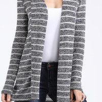 Striped Cardigan - Gray