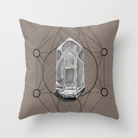 Sacred Geometry Throw Pillow by K I T K I N G