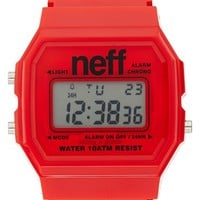 Men's Neff 'Flava XL' Digital Watch, 38mm x 27mm - Red