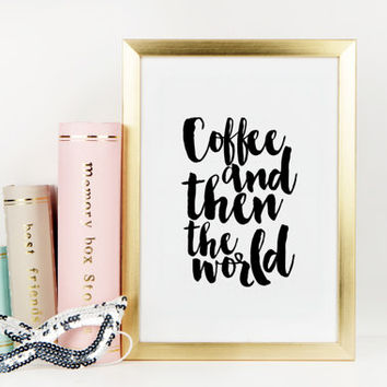 Inspirational Print Funny Poster But First Coffee Kitchen Decor Motivational Poster Typography Print Coffee Poster Printable Art Quotes