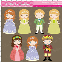 Royal Family Digital Clipart (P012)/ Princess/Prince/King/Queen/ INSTANT DOWNLOAD