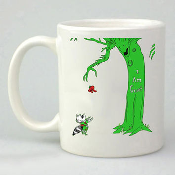 giving groot guardian of galaxy design for mug, ceramic, awesome, good,amazing