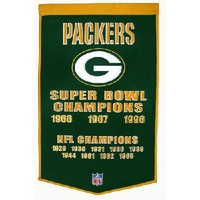 "Green Bay Packers NFL ""Dynasty"" Banner (24""x36"")"